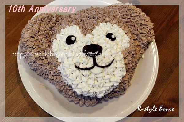 手作りダッフィーケーキ3