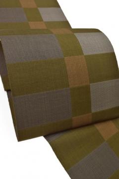 丈草木染手織り、「市松織」黄八