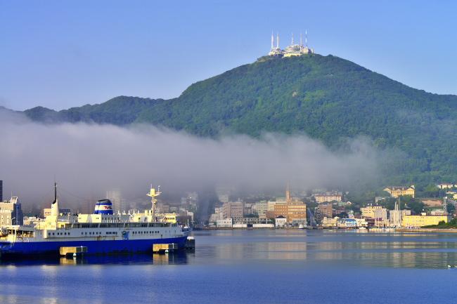 函館港海霧