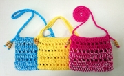 コットン糸で編むお散歩バッグ