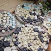 タイルを作る陶芸体験②