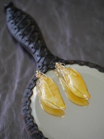 黄不透明琥珀 変形 (2)