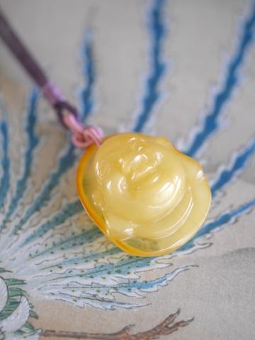 黄不透明琥珀 大玉N (4)