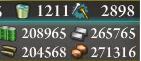E-5丙突破時の資源(E-7ラスダン)