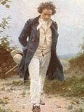 散策するベートーヴェン(部分)