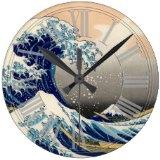 葛飾北斎の神奈川沖浪裏 壁時計