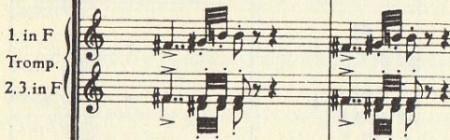 楽譜 ブルックナー第9(十字架 )