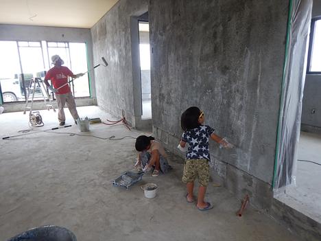 宮古島 内装 漆喰 下地  DIY