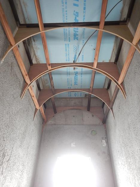 宮古島 内装 トイレ アール天井 DIY