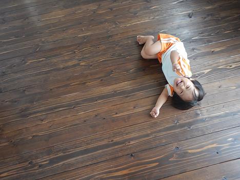 宮古島 新築 床 杉材 内装 リボス 天然オイル