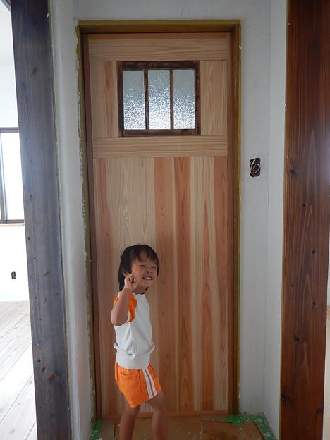 木製ドア DIY トイレ