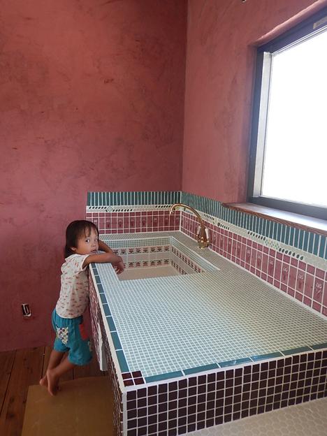 漆喰 弁柄 DIY キッチン
