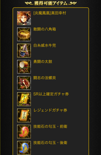 真田ドロップアイテム群1