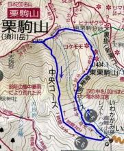 登山コース図