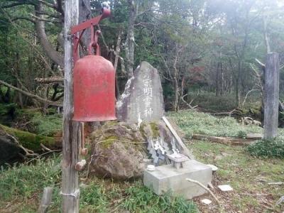 弁天沼に設置されている鐘