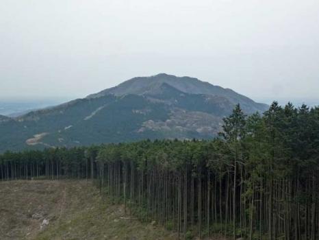 吾国山の登山道で