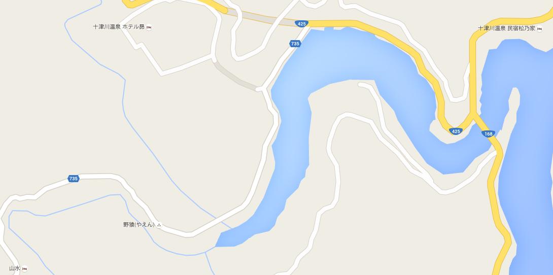 野猿 地図
