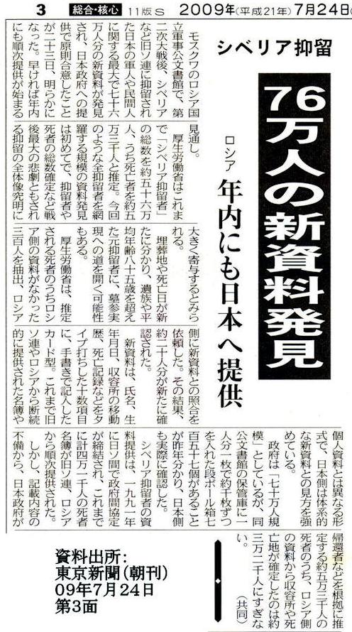 東京新聞 76万人の新資料発見