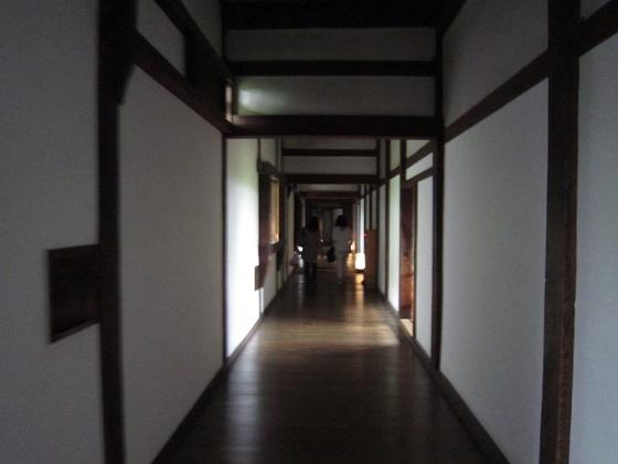 姫路城 西の丸 百軒廊下内部