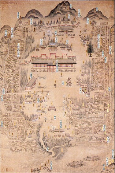 白山平泉寺境内図