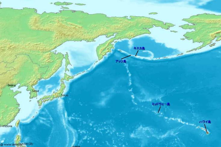 アリューシャン列島地図