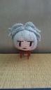 そろそろ短い髪のお花ちゃんも編みたい