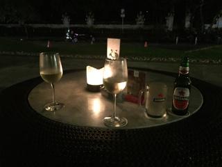 白ワインとビール
