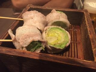 レタス豚巻き(蒸し)