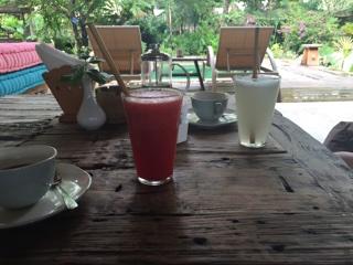 朝食のジュース