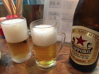 瓶ビール(赤星)