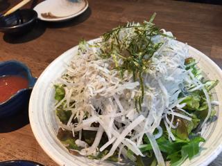 しらすと大根の梅サラダ
