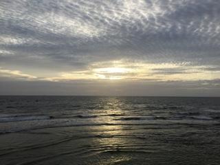 宮城海岸の夕日①