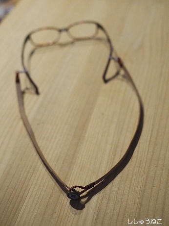眼鏡ストラップ後ろ留めタイプ