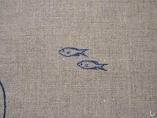 刺繍サカナ