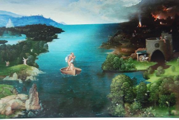 パティニールス川を渡るカロン