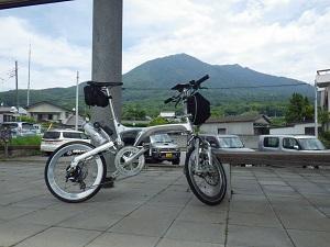 筑波山を一望