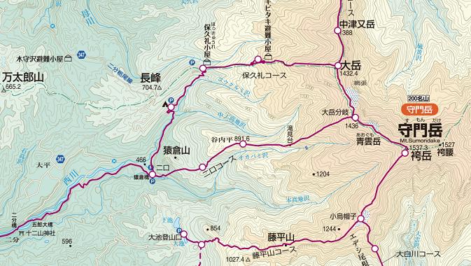 守門岳コース
