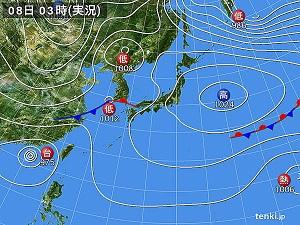 08日天気図