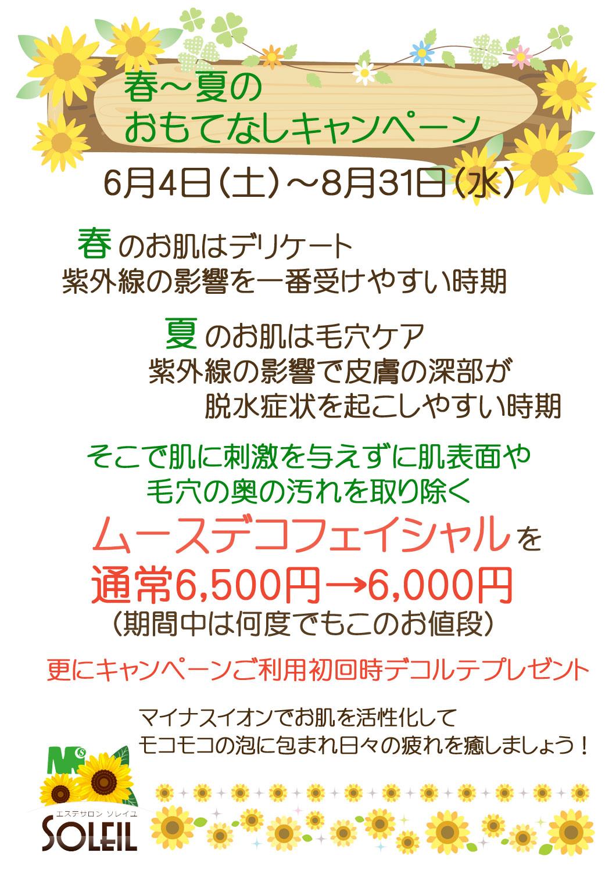 2016春夏キャンペーン