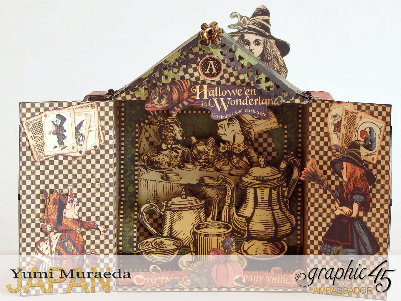 5 Alices Odd Tea HouseHalloween Wonderlandby Yumi MuraedaProduct by Graphic 45