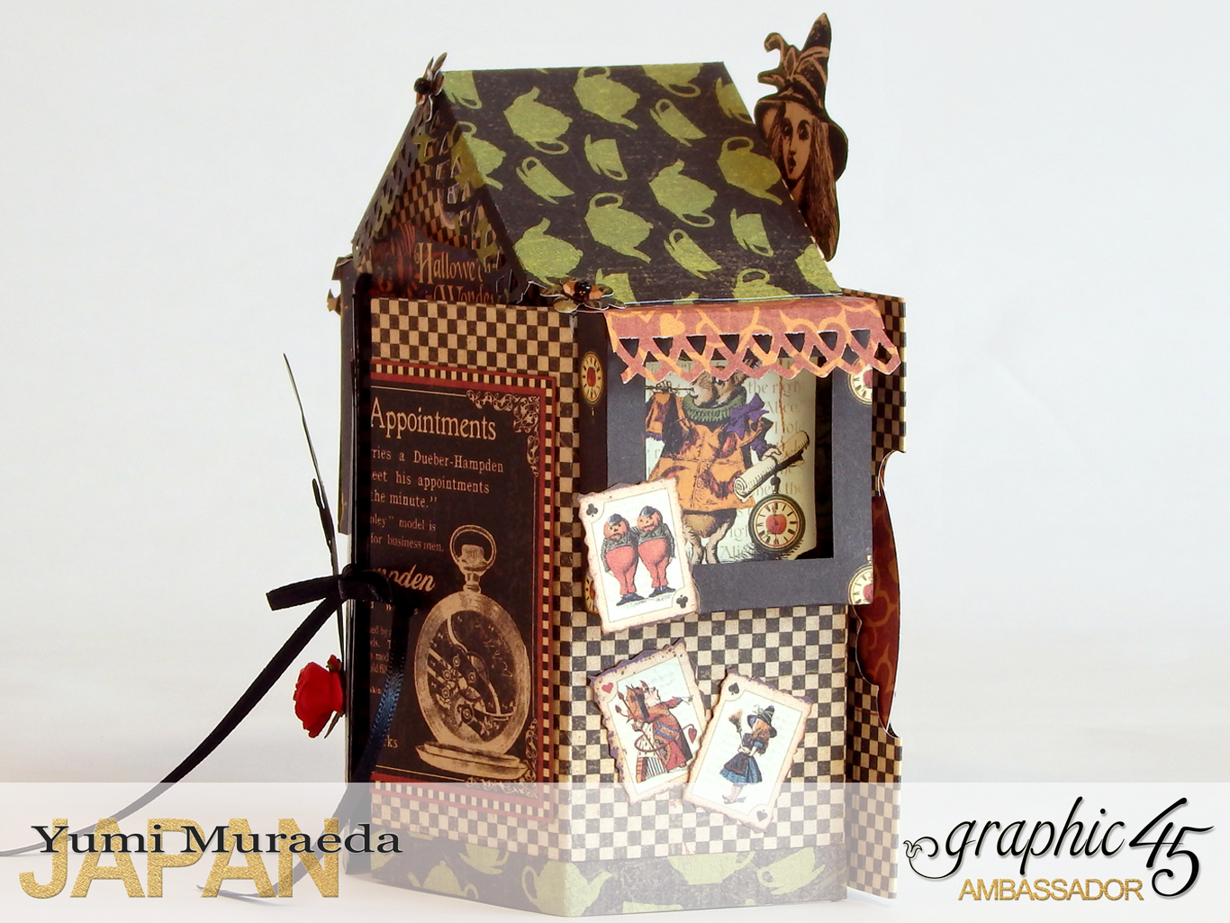 4 Alices Odd Tea HouseHalloween Wonderlandby Yumi MuraedaProduct by Graphic 45