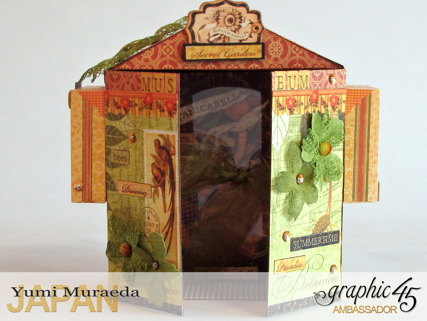 1Secret Gaden Museum, Botanicabella, by Yumi Muraeda, Product by Graphic 45jpg
