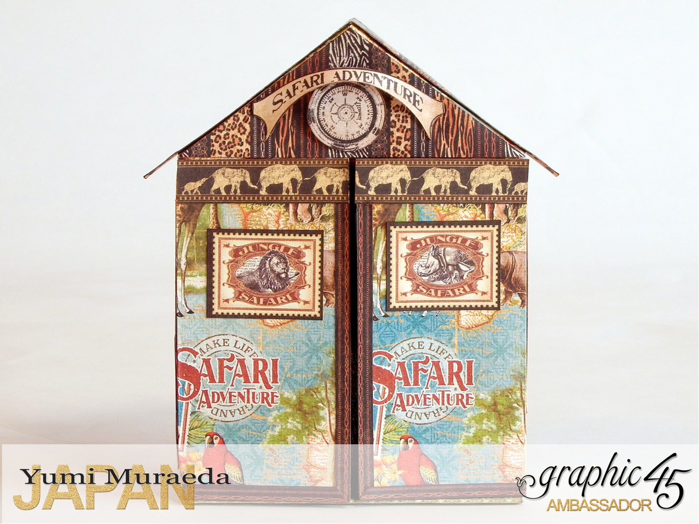 1Safari Park Ranger Office, Safari Adventure, by Yumi Muraeda, Product by Graphic 45jpg