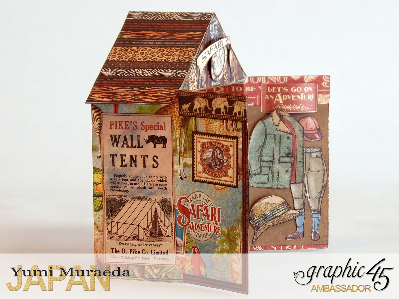 5Safari Park Ranger Office, Safari Adventure, by Yumi Muraeda, Product by Graphic 45jpg