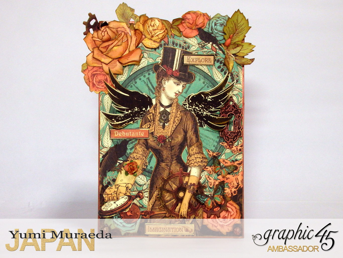 1Mrs Flies Accesoory Case, Steampunk Debutante, by Yumi Muraeda, Product by Graphic 45pg