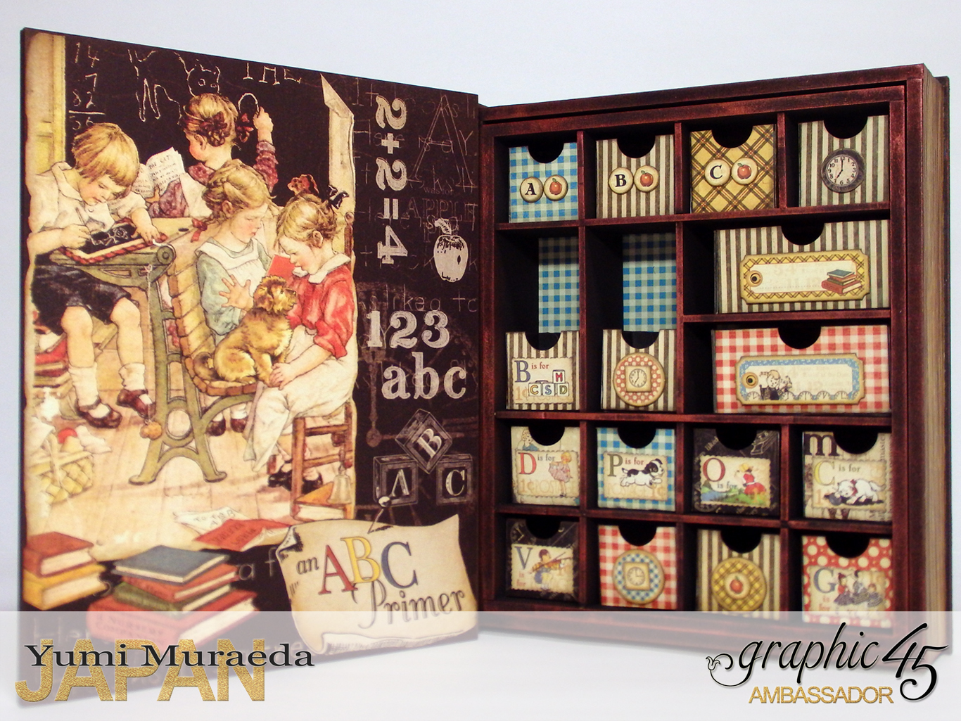2My Memory Drawers, An Abc Primer, by Yumi Muraeda, Product by Graphic 45jpg