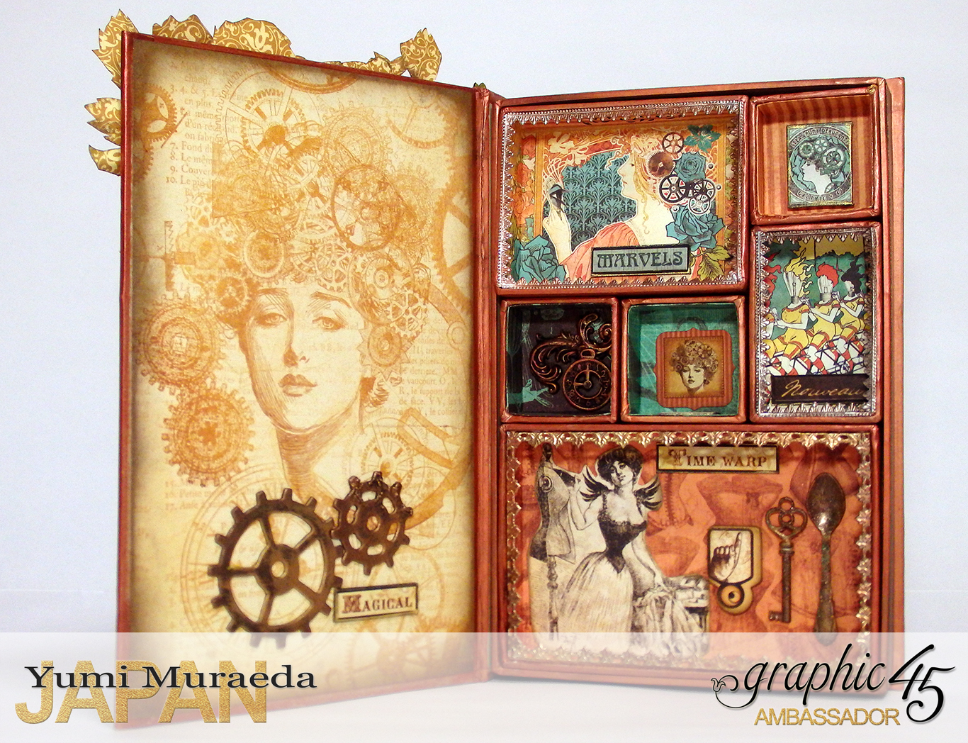 14Mrs Flies Accesoory Case, Steampunk Debutante, by Yumi Muraeda, Product by Graphic 45jpg