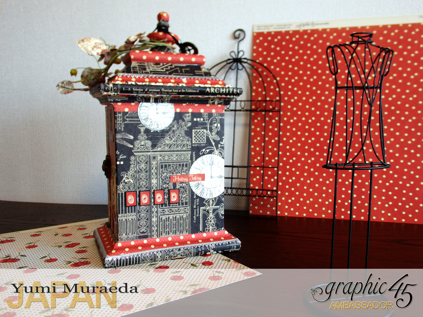 14Up Cycle Graphic45 DIY Craftpaper with Times Nouveau Secret Clock by Yumi Muraeada Product by Graphic 45 Photo