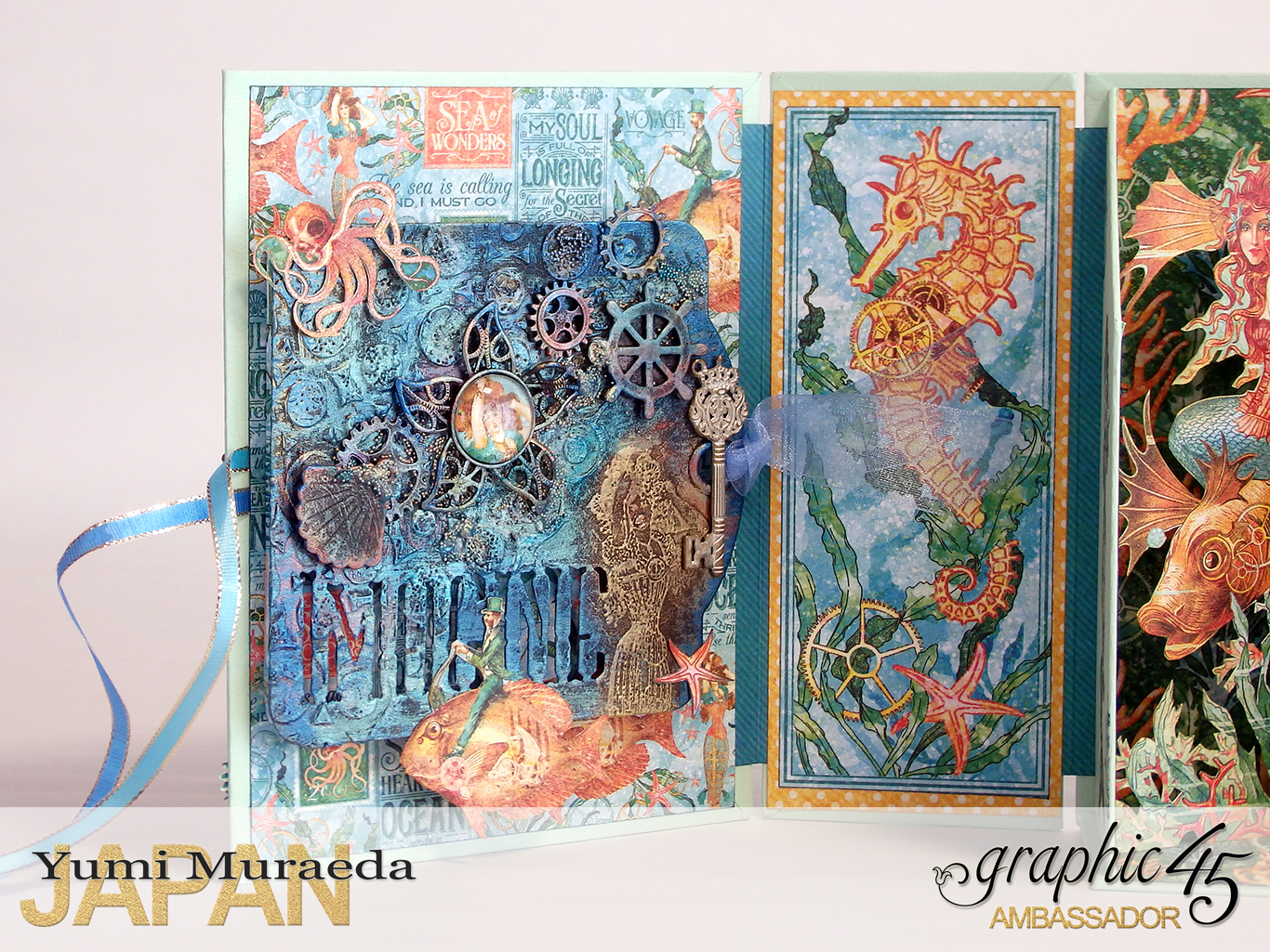 Under The Sea Aroma Diffuser Graphic45 Voyage Beneath The Sea by Yumi Muraeada Product by Graphic 45 Photo6