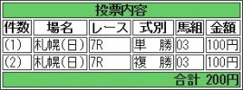 20160731 3歳上(500) スズカレビン